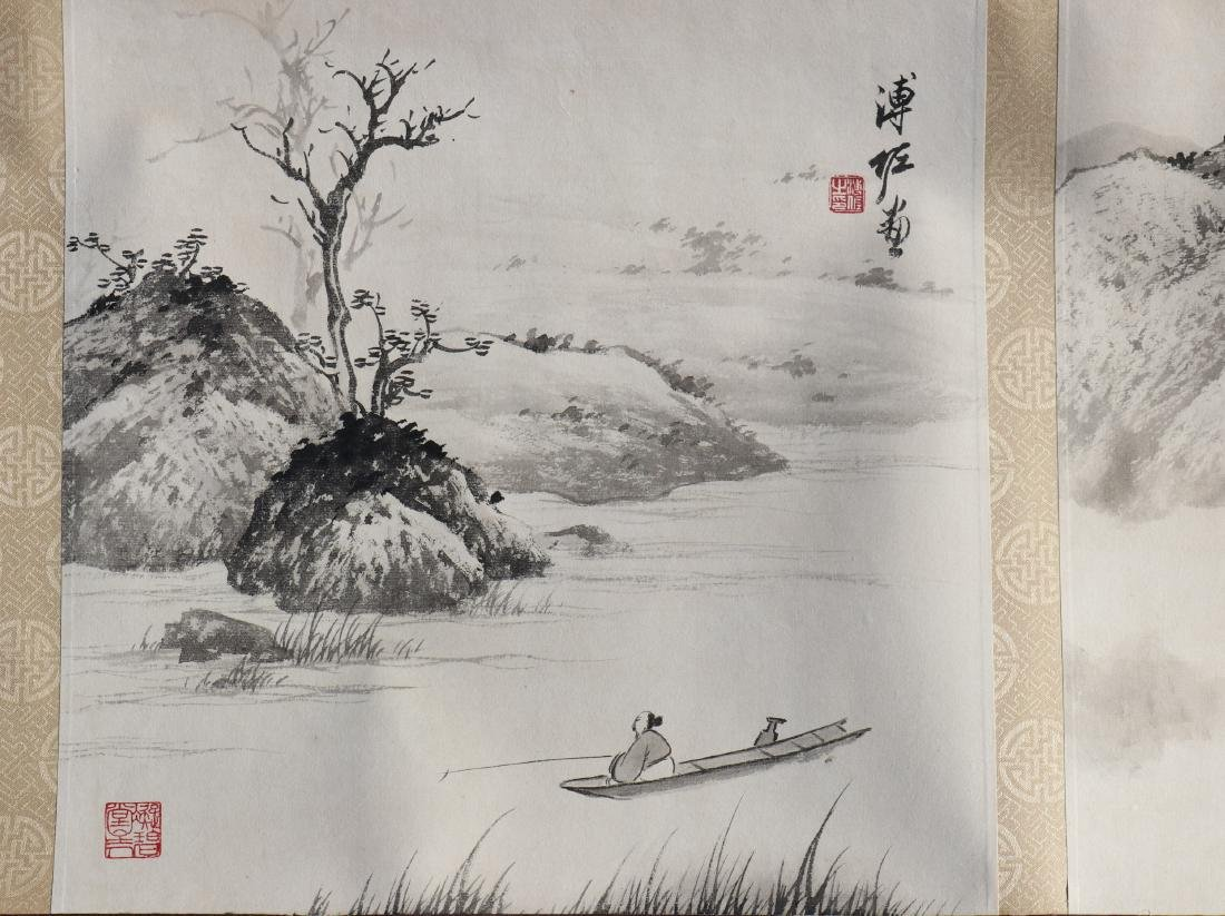 A Chinese Ink and Color Handscroll Painting Pu Zuo - 8