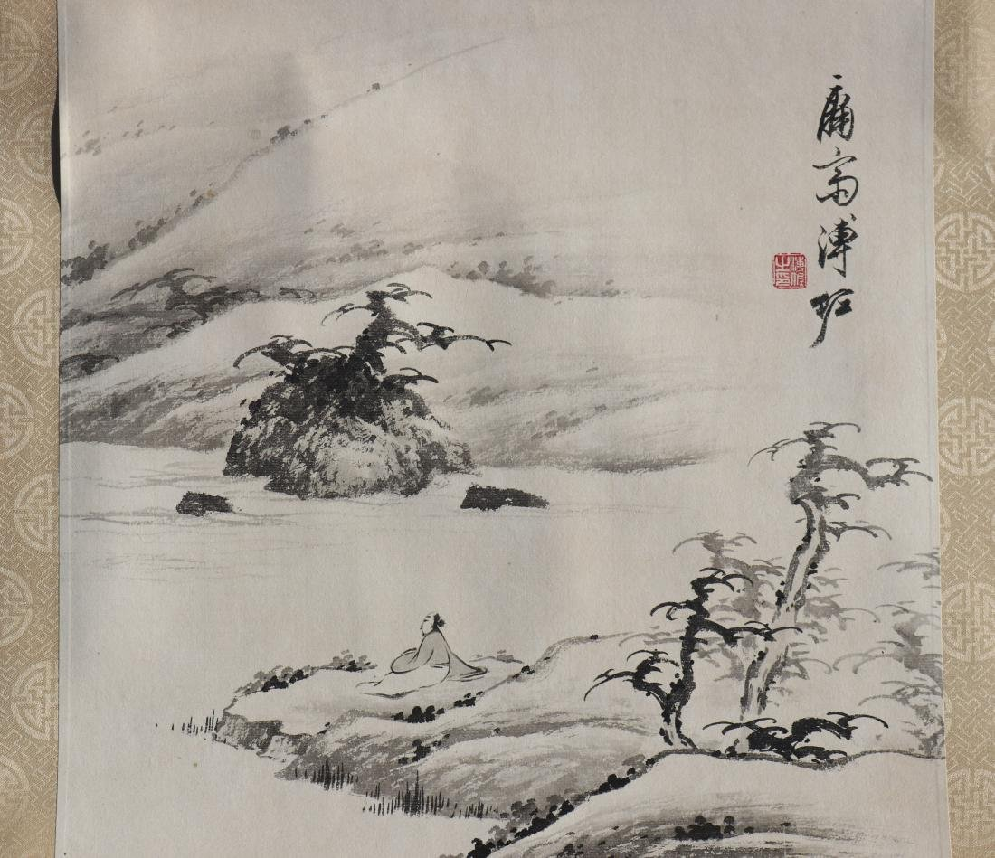 A Chinese Ink and Color Handscroll Painting Pu Zuo - 9