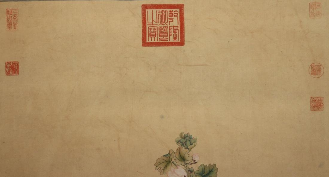 A Chinese Ink and Color Scrolling Painting Lang Shining - 5