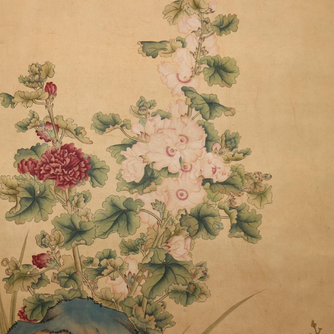 A Chinese Ink and Color Scrolling Painting Lang Shining - 6