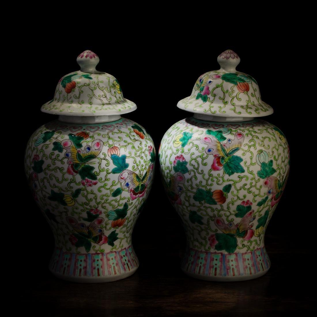 Qing Dynasty Kangxi Period Porcelain General Tank