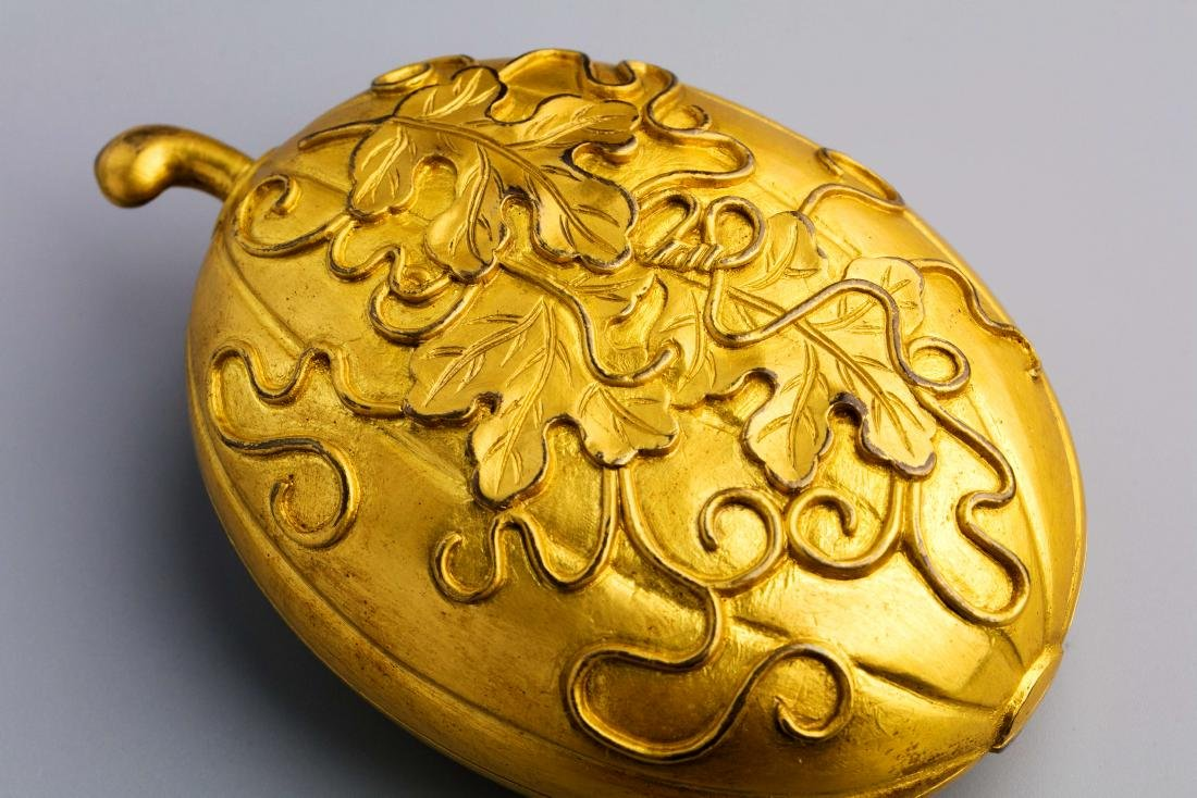 A Chinese Gilt Bronze Copper Box - 5