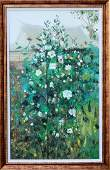 A Chinese Oil Framed Painting Attribute to Wu Guanzhong
