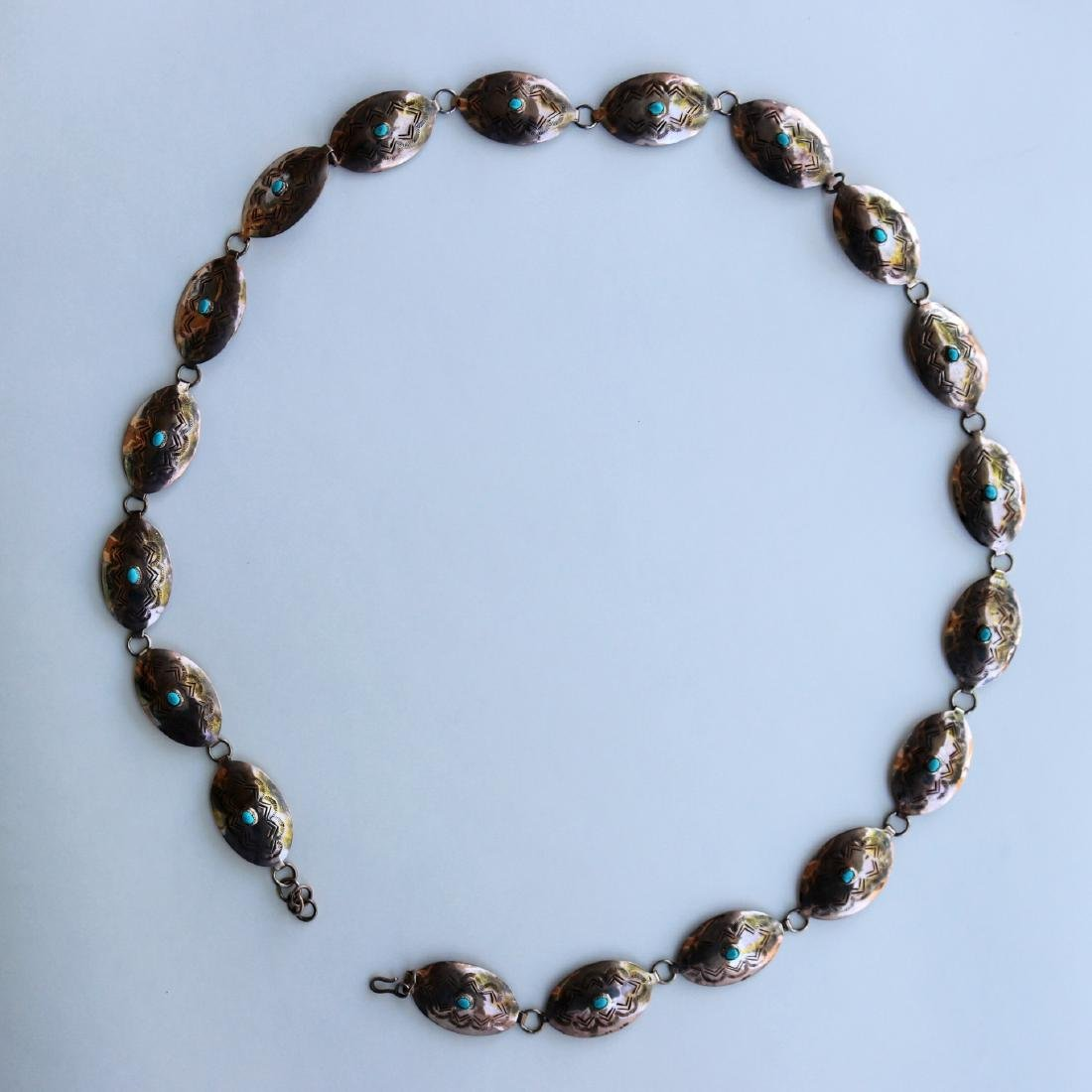 N.G. Silver and Beauty Turquoise Necklace / Belt 100g