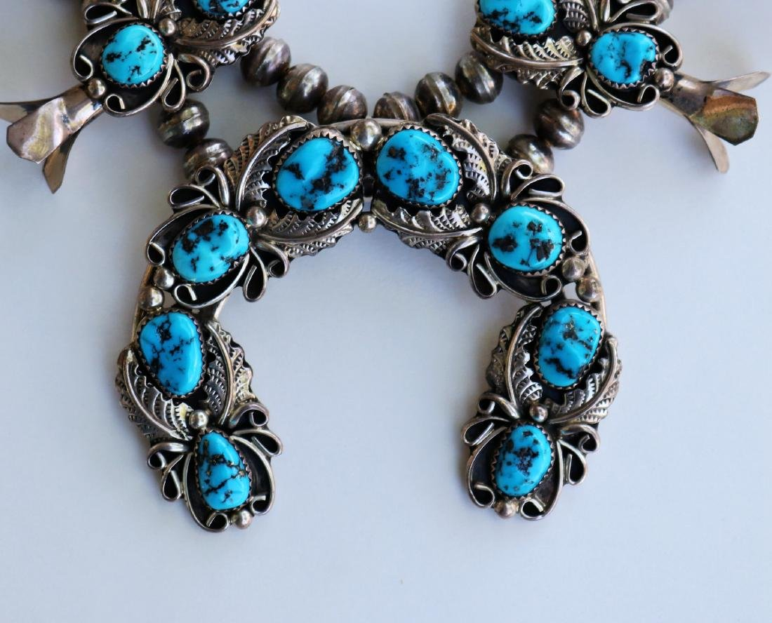 H.B.Y.Squash Blossom Necklace Sleeping Beauty Turquoise - 5