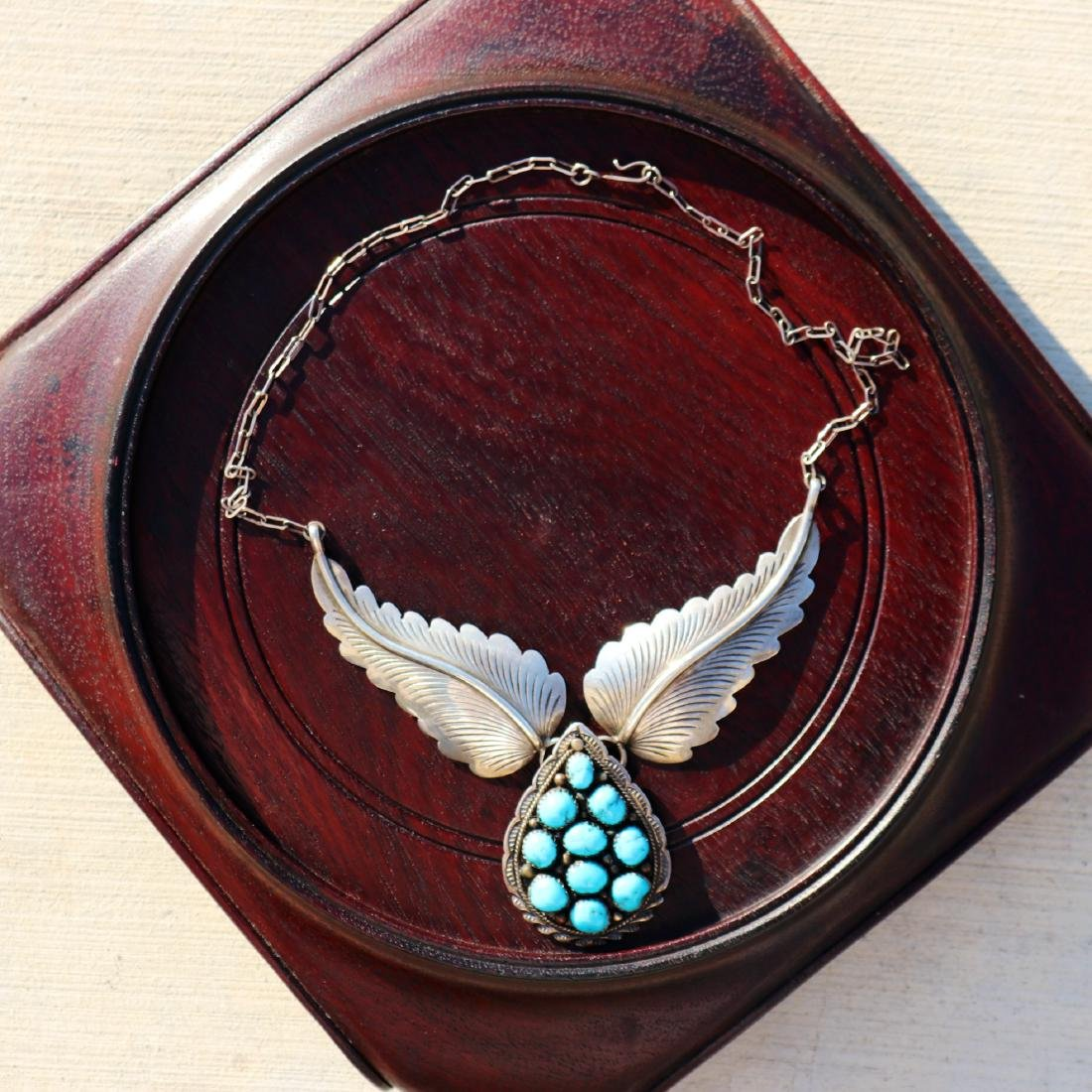 Silver and Beauty Turquoise Necklace