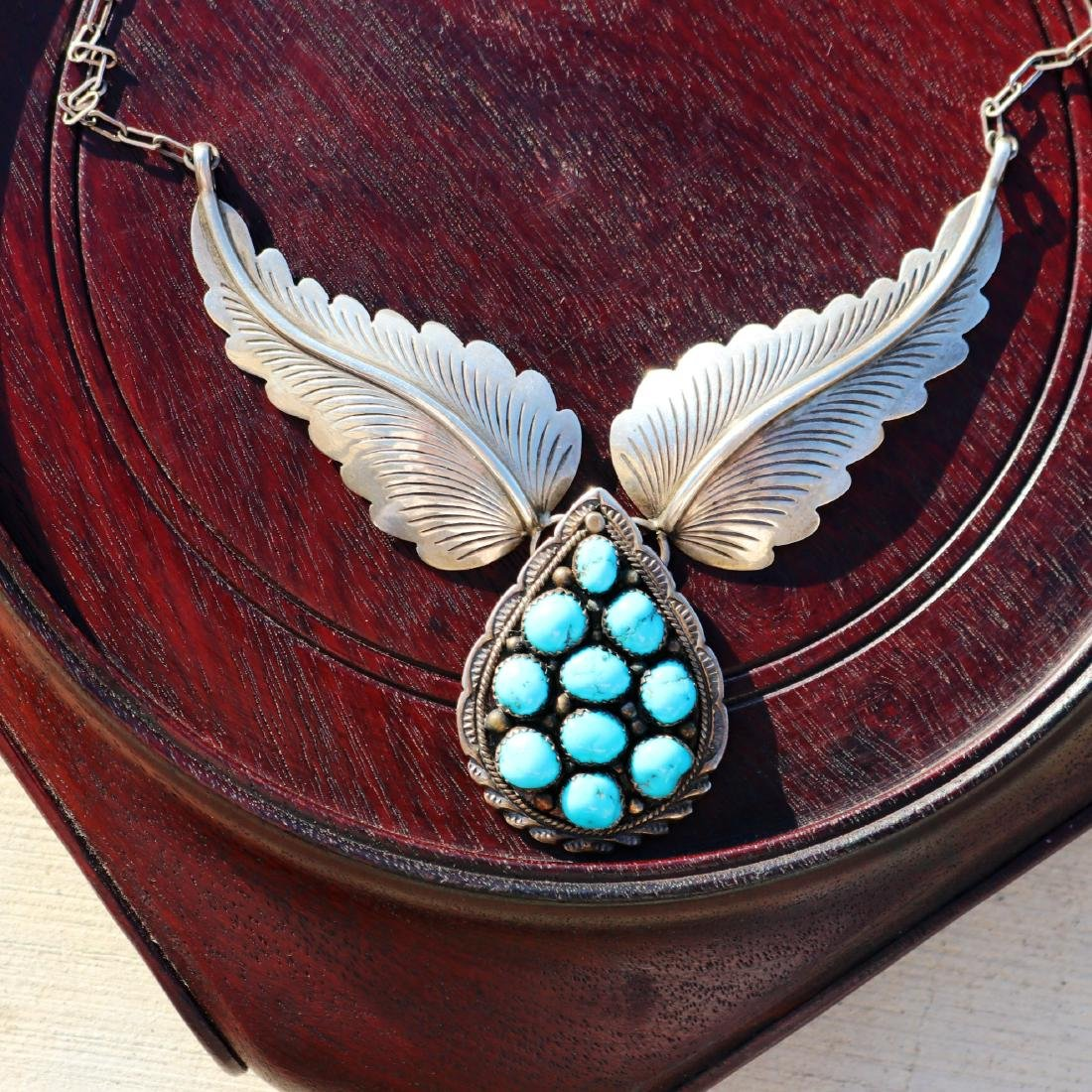 Silver and Beauty Turquoise Necklace - 2