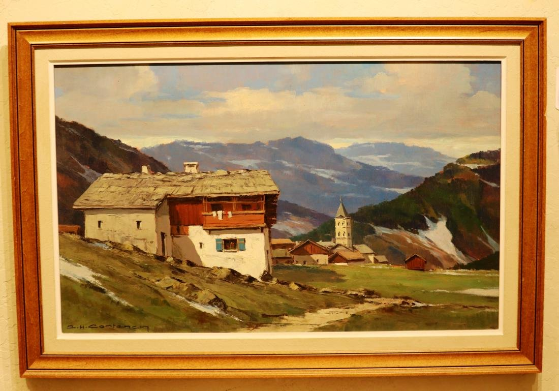 Original Signed by Charles Henry Contencin Oil /Canvas