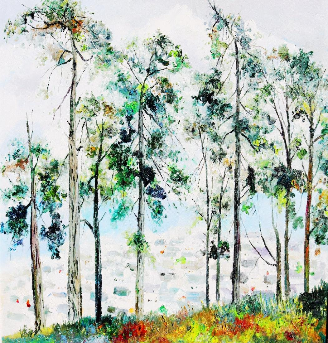 A Chinese Oil Painting Attribute to Wu Guanzhong - 2
