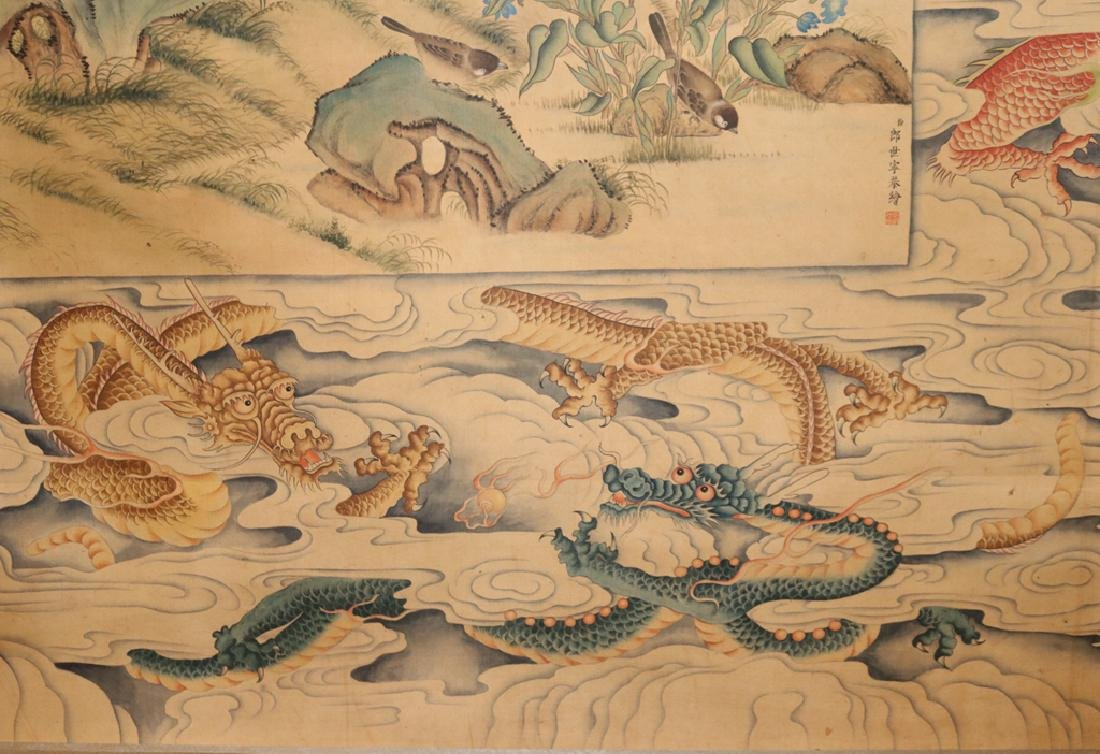 Chinese  Scrolling Painting, Attribute to Lang Shining - 9