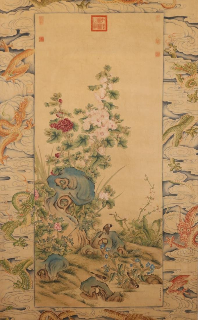 Chinese  Scrolling Painting, Attribute to Lang Shining - 2