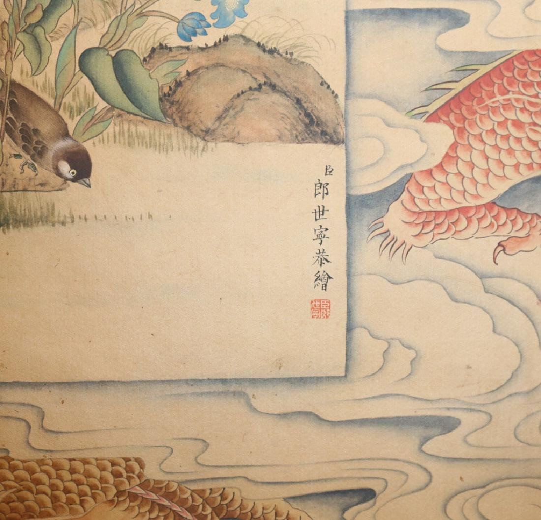 Chinese  Scrolling Painting, Attribute to Lang Shining - 8