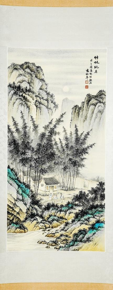 A Chinese Ink and Color Scrolling Painting Yuan Songnia