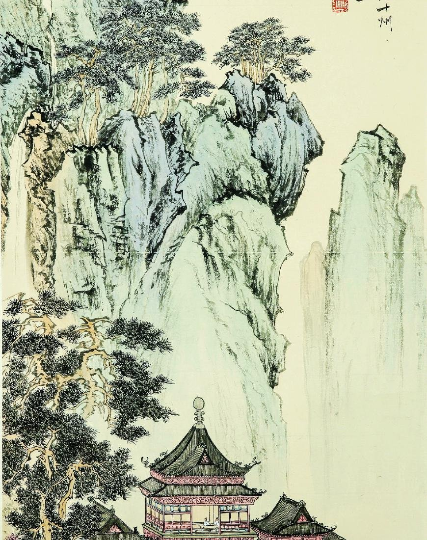 A Chinese Ink and Color Scrolling Painting, Pu Xinyu - 4