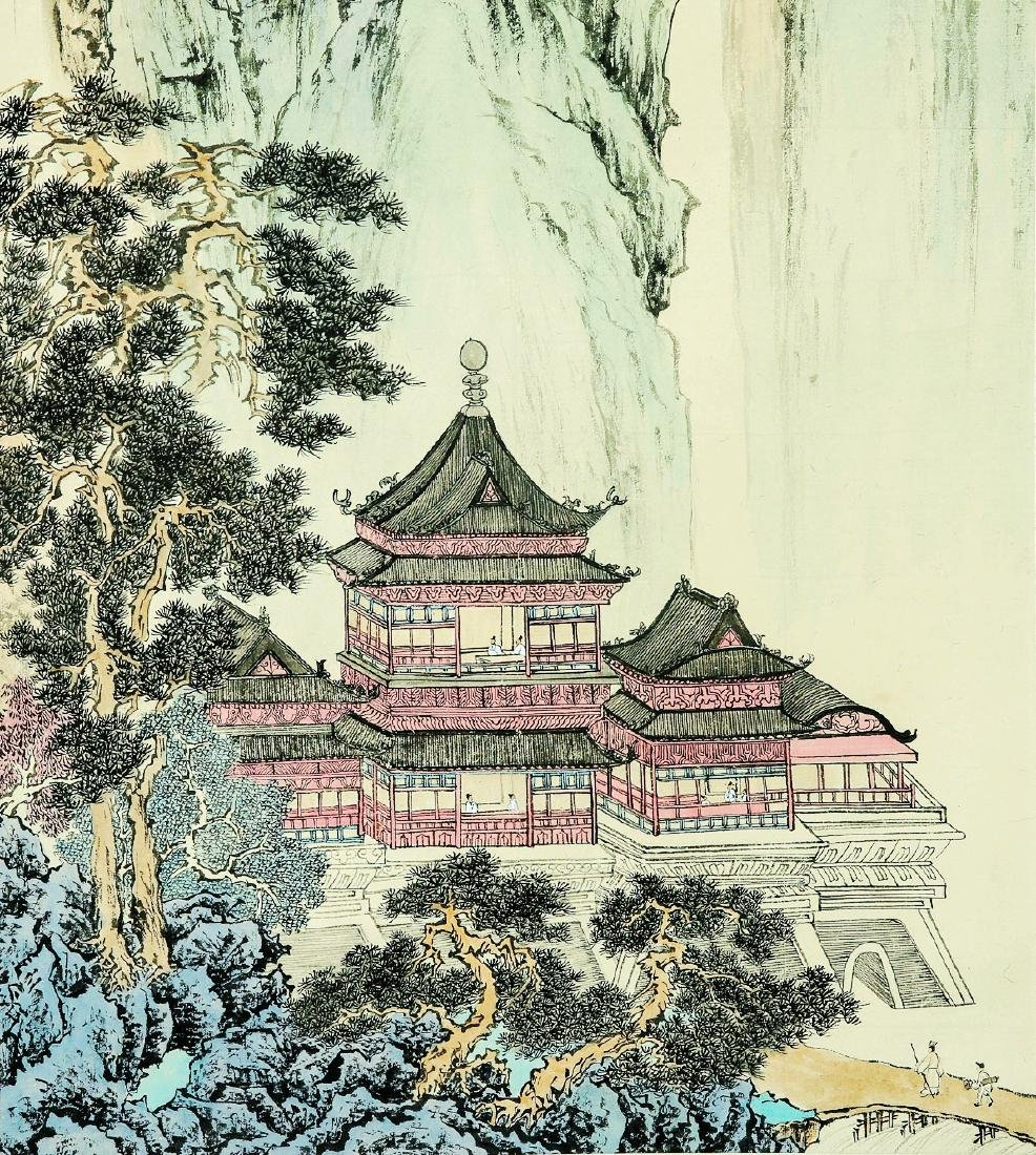 A Chinese Ink and Color Scrolling Painting, Pu Xinyu - 5