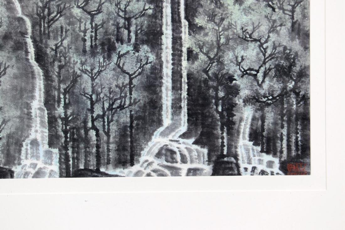 FRAMED LI KERAN BOY & WATER LANDSCAPE PAINTING - 4