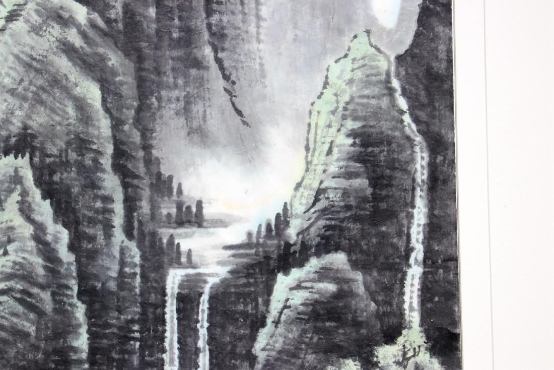 FRAMED LI KERAN BOY & WATER LANDSCAPE PAINTING - 5
