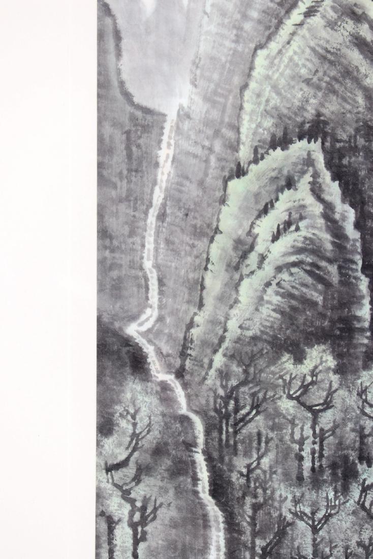 FRAMED LI KERAN BOY & WATER LANDSCAPE PAINTING - 8