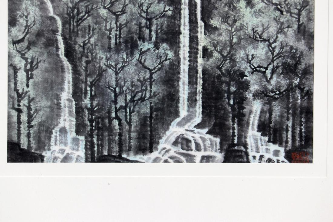 FRAMED LI KERAN BOY & WATER LANDSCAPE PAINTING - 9
