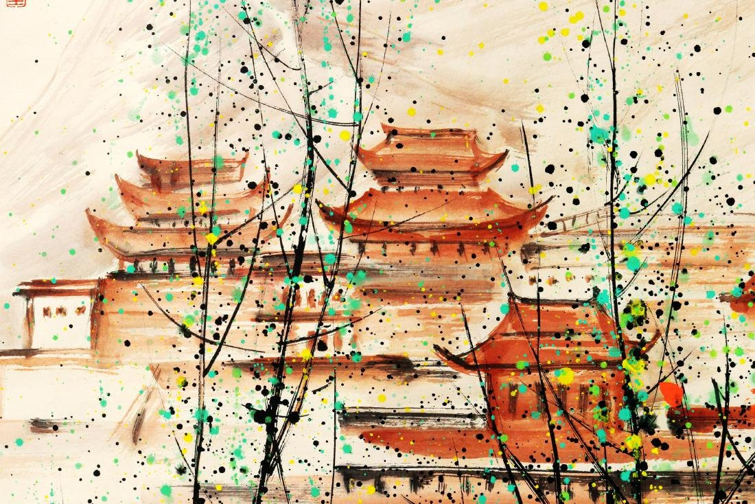 Attributed to Wu Guanzhong (Chinese Scroll Painting) - 4