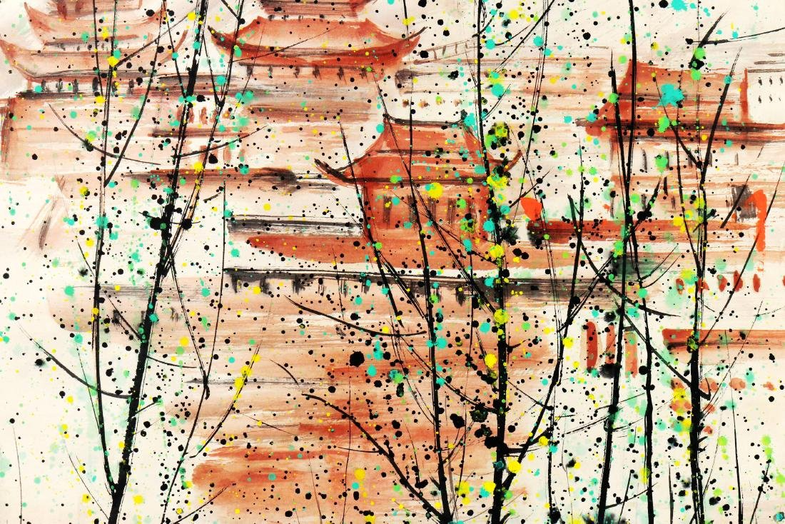 Attributed to Wu Guanzhong (Chinese Scroll Painting) - 5