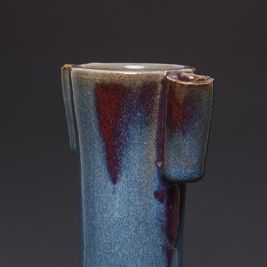 A Chinese Oxblood Flambe-Glazed Porcelain Vases - 6
