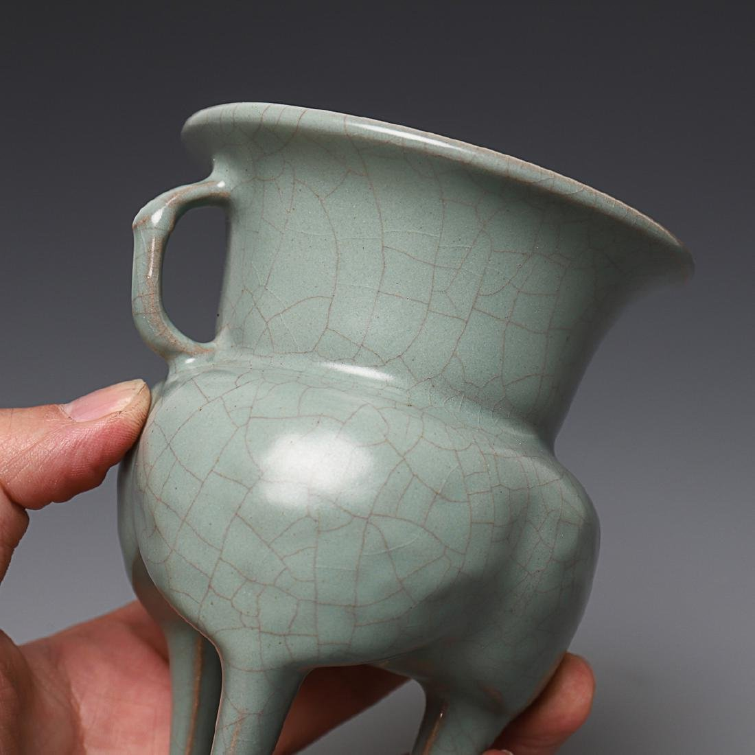 Vintage Chinese Longquan Cong censer - 4