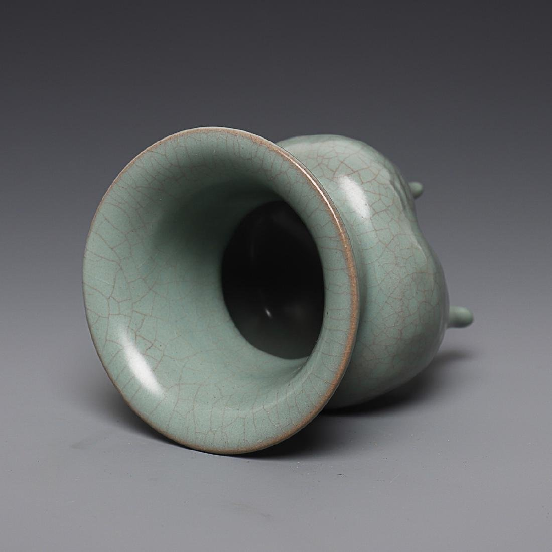 Vintage Chinese Longquan Cong censer - 6