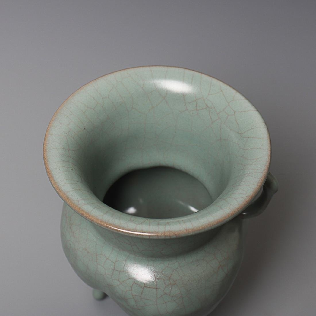 Vintage Chinese Longquan Cong censer - 7