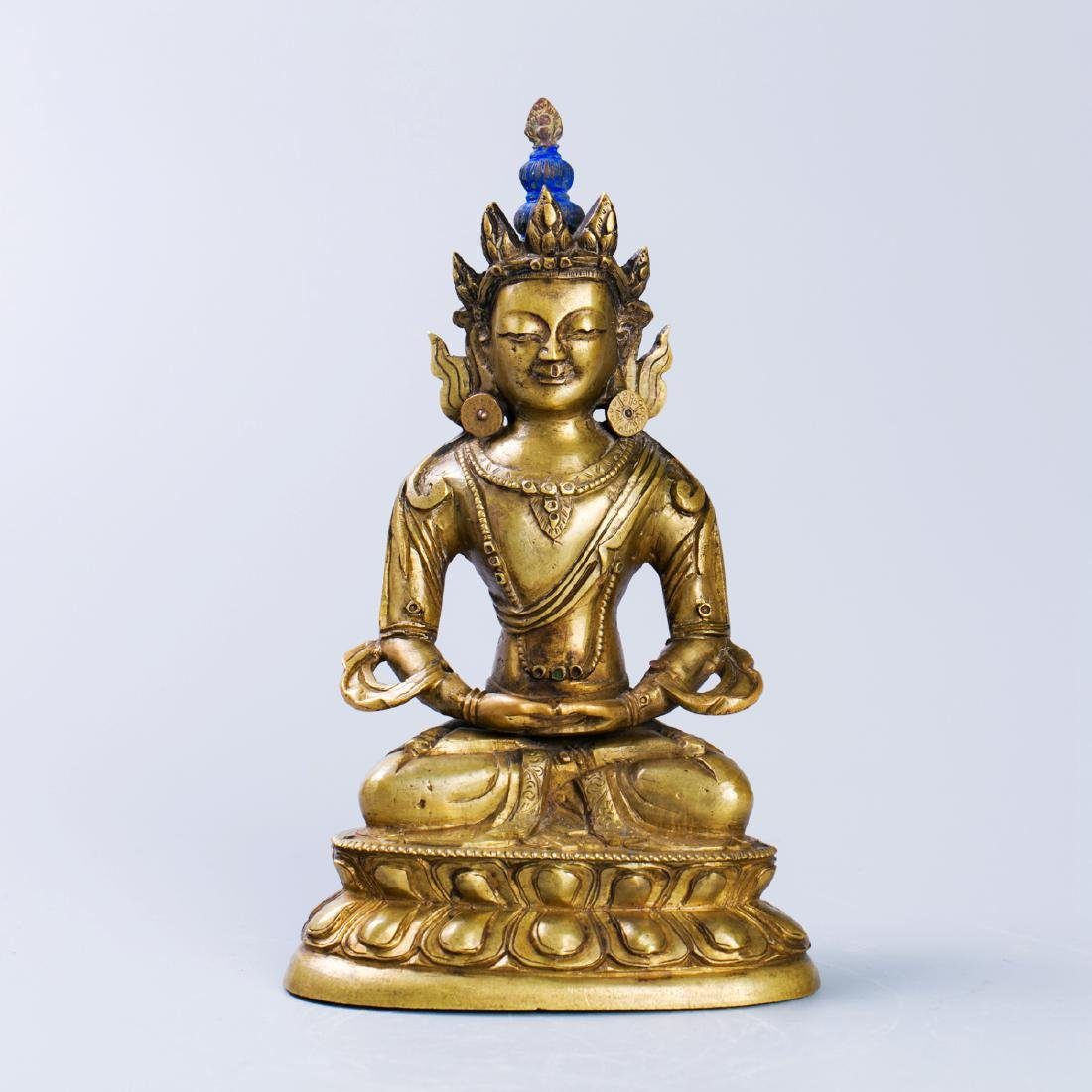 A Chinese Bronze Buddha Figure