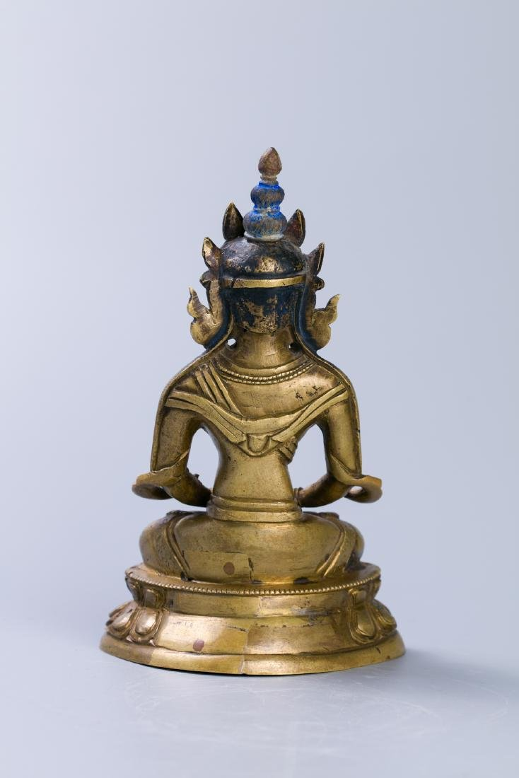 A Chinese Bronze Buddha Figure - 3