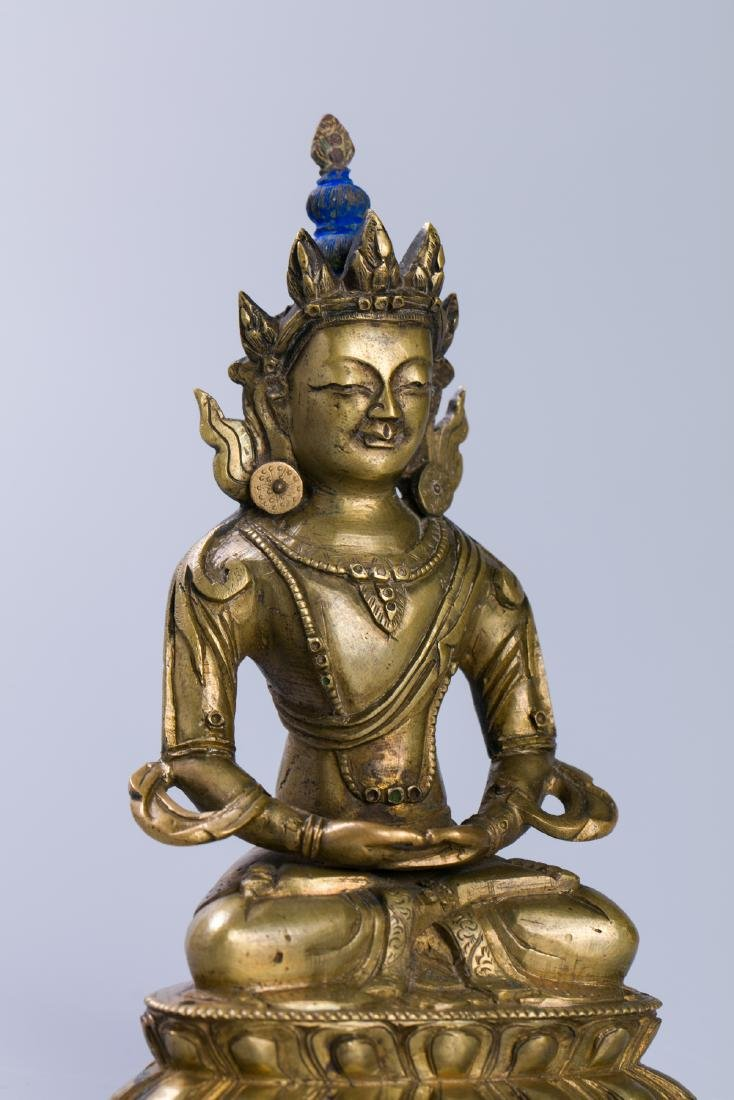 A Chinese Bronze Buddha Figure - 4