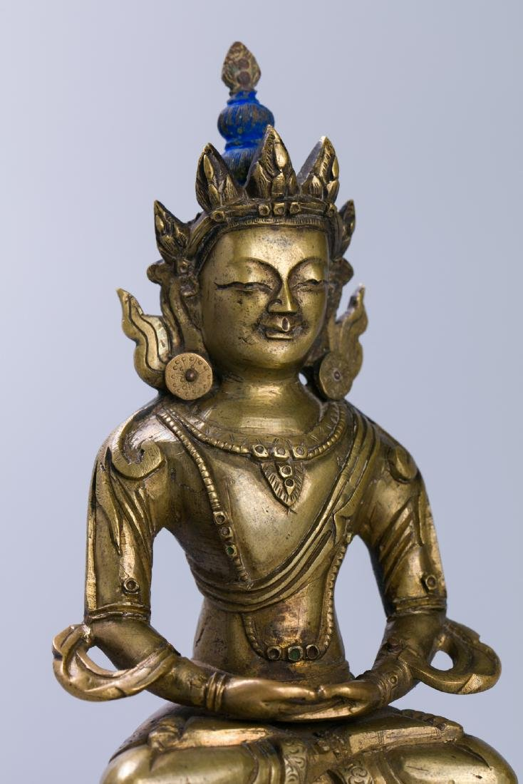 A Chinese Bronze Buddha Figure - 5