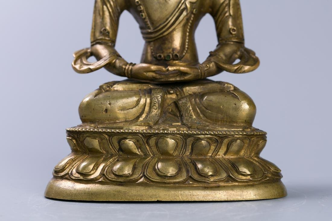 A Chinese Bronze Buddha Figure - 6