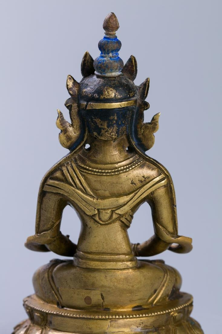 A Chinese Bronze Buddha Figure - 8