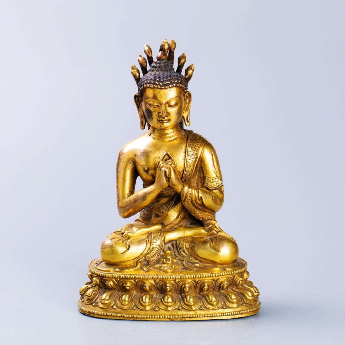 A Chinese Gilt Bronze Buddha Figure