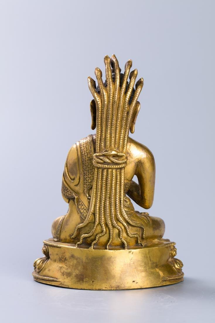 A Chinese Gilt Bronze Buddha Figure - 3