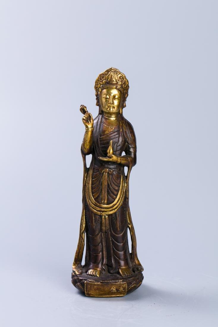 A Chinese Gilt Bronze Buddha Figure - 2