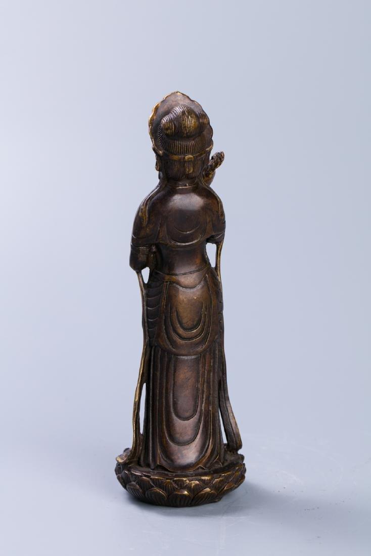 A Chinese Gilt Bronze Buddha Figure - 4