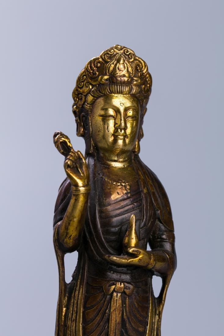 A Chinese Gilt Bronze Buddha Figure - 9