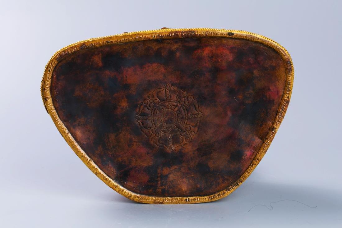 MING GILT BRONZE CROWNED SHAKYAMUNI BUDDHA - 8