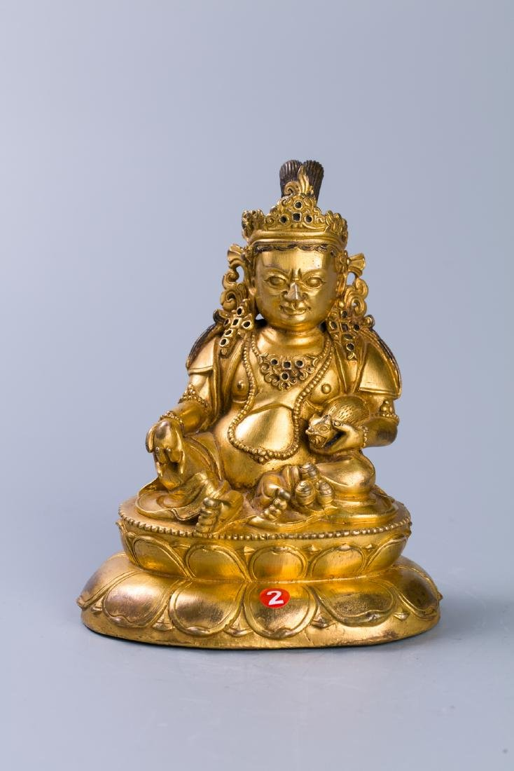 A Chinese Gilt Bronze Buddha Figure - 2