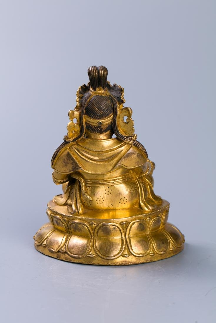 A Chinese Gilt Bronze Buddha Figure - 3