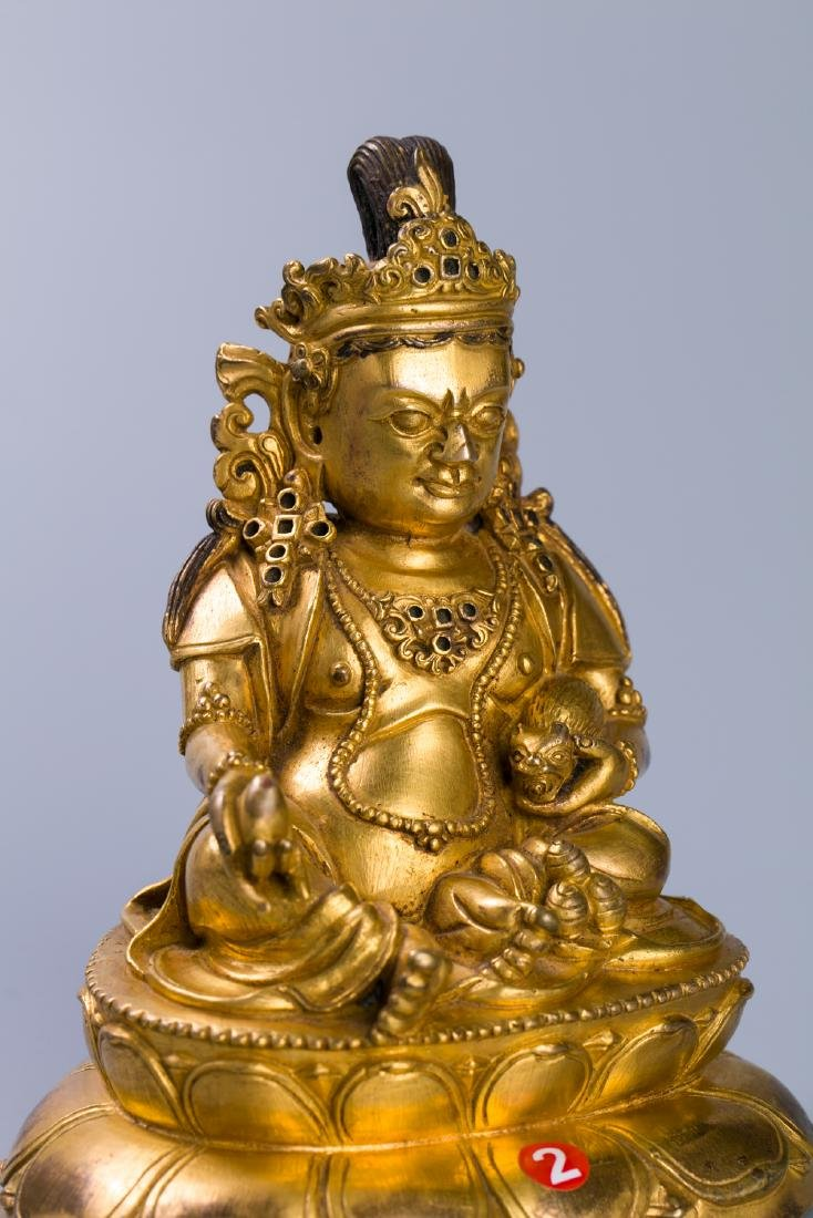 A Chinese Gilt Bronze Buddha Figure - 4