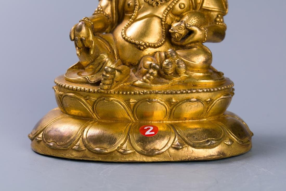 A Chinese Gilt Bronze Buddha Figure - 6