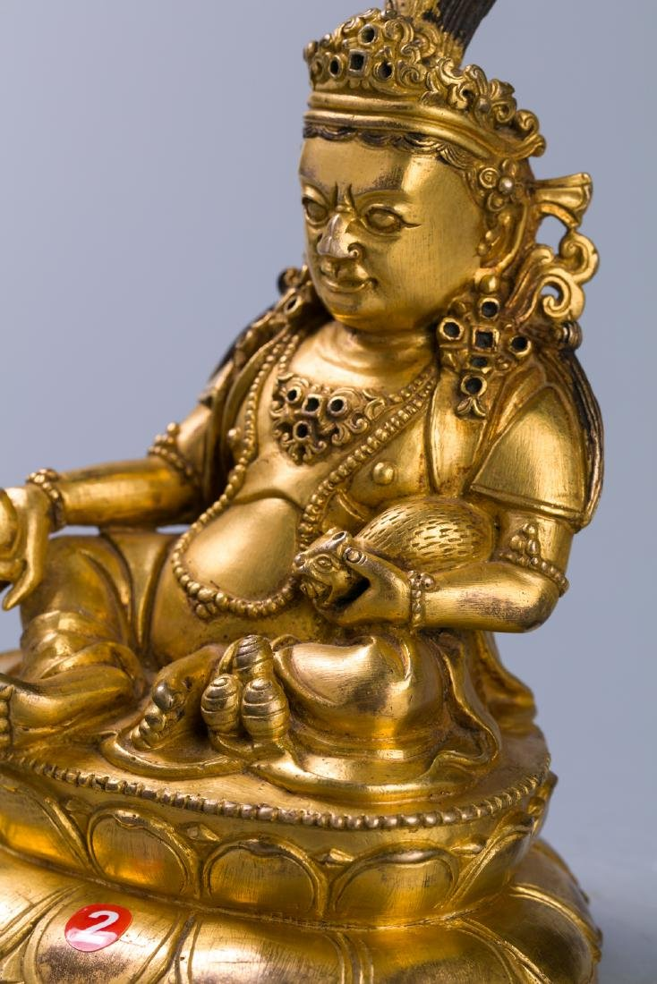 A Chinese Gilt Bronze Buddha Figure - 7