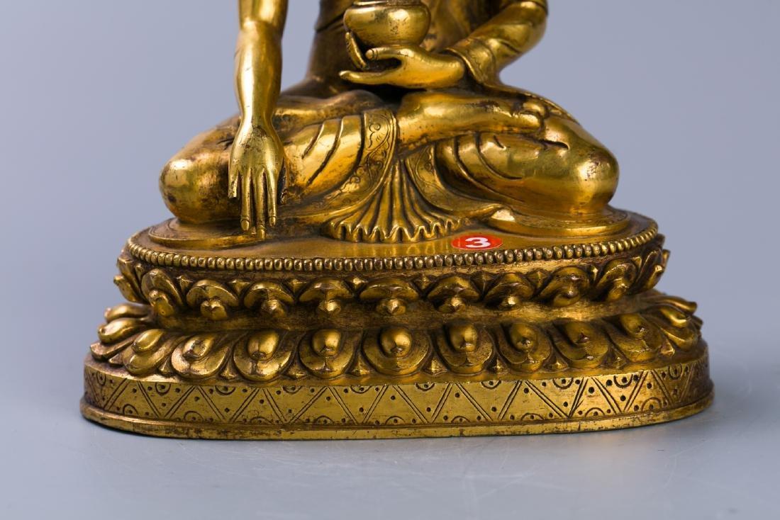 A Chinese Gilt Bronze Buddha Figure - 6
