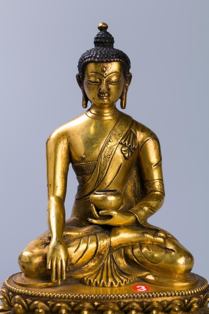 A Chinese Gilt Bronze Buddha Figure - 7