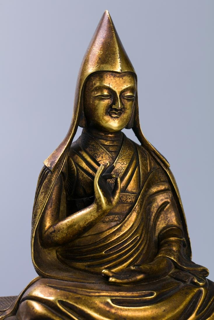 A Chinese Gilt Bronze Buddha Figure - 5