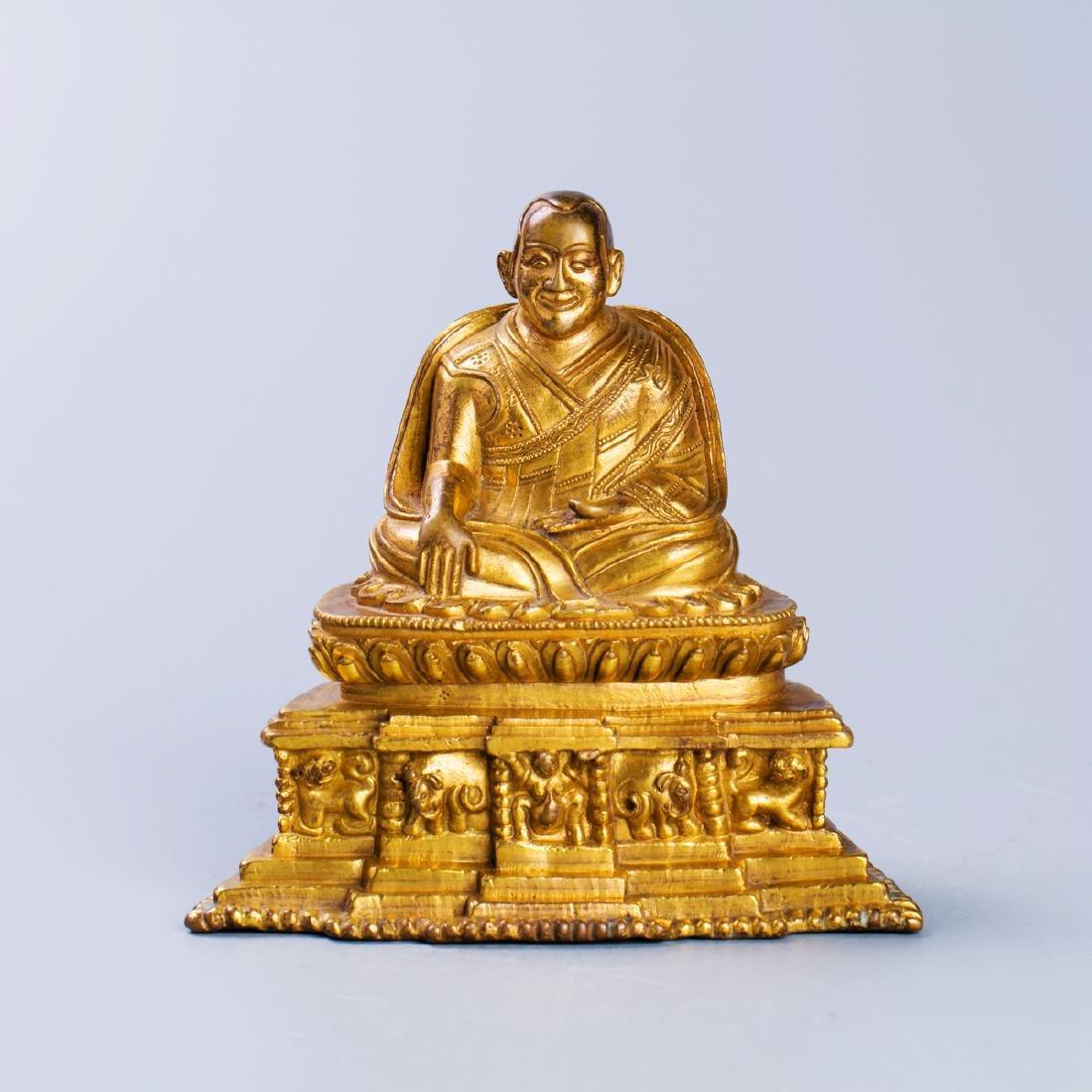A Chinese Gilt Bronze Buddha Figure